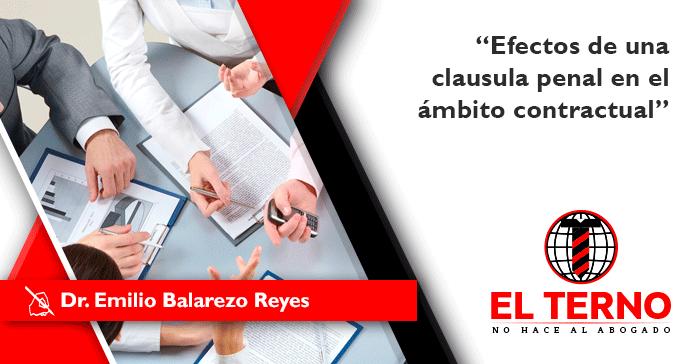 Efectos de una clausula penal en el mbito contractual el for Que es una clausula