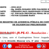 Exp. 04994-2019-0-1801-JR-PE-43 - Resolución - 269537-2019